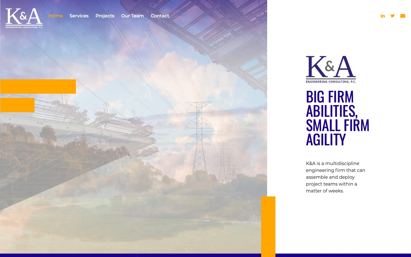 K&A Engineering Consulting Website Rewrite