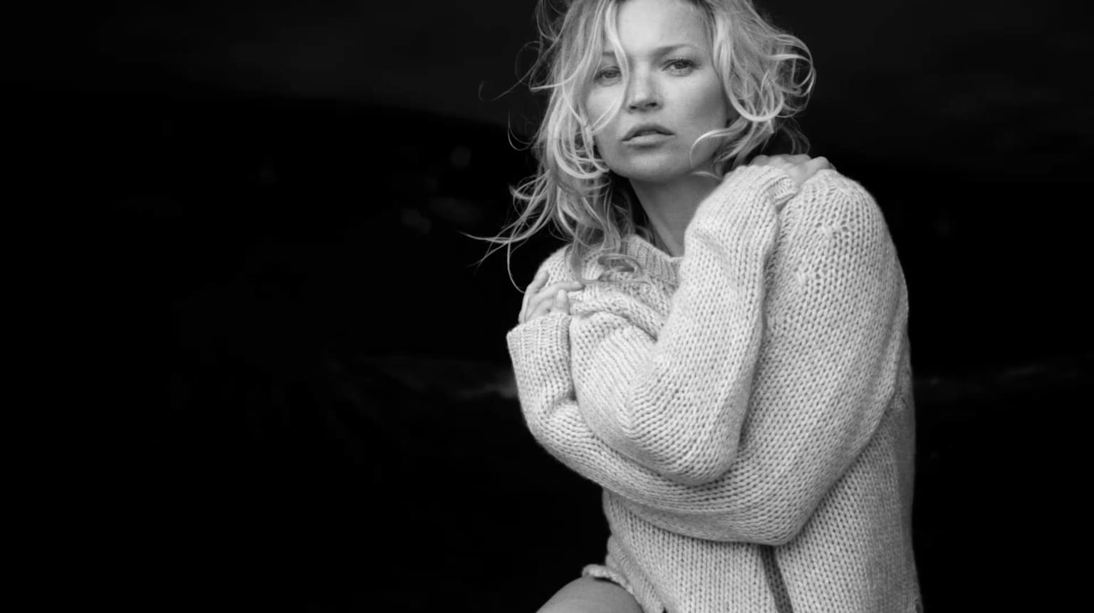 Naked Cashmere launch with Kate Moss shot by Peter Lindbergh