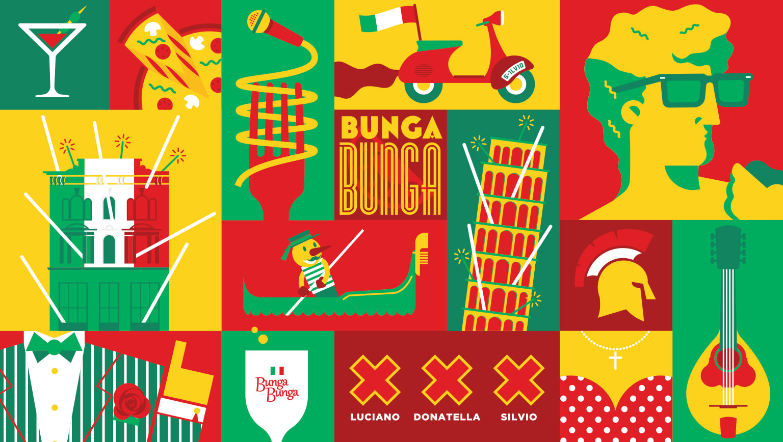 Bunga Bunga Illustrations