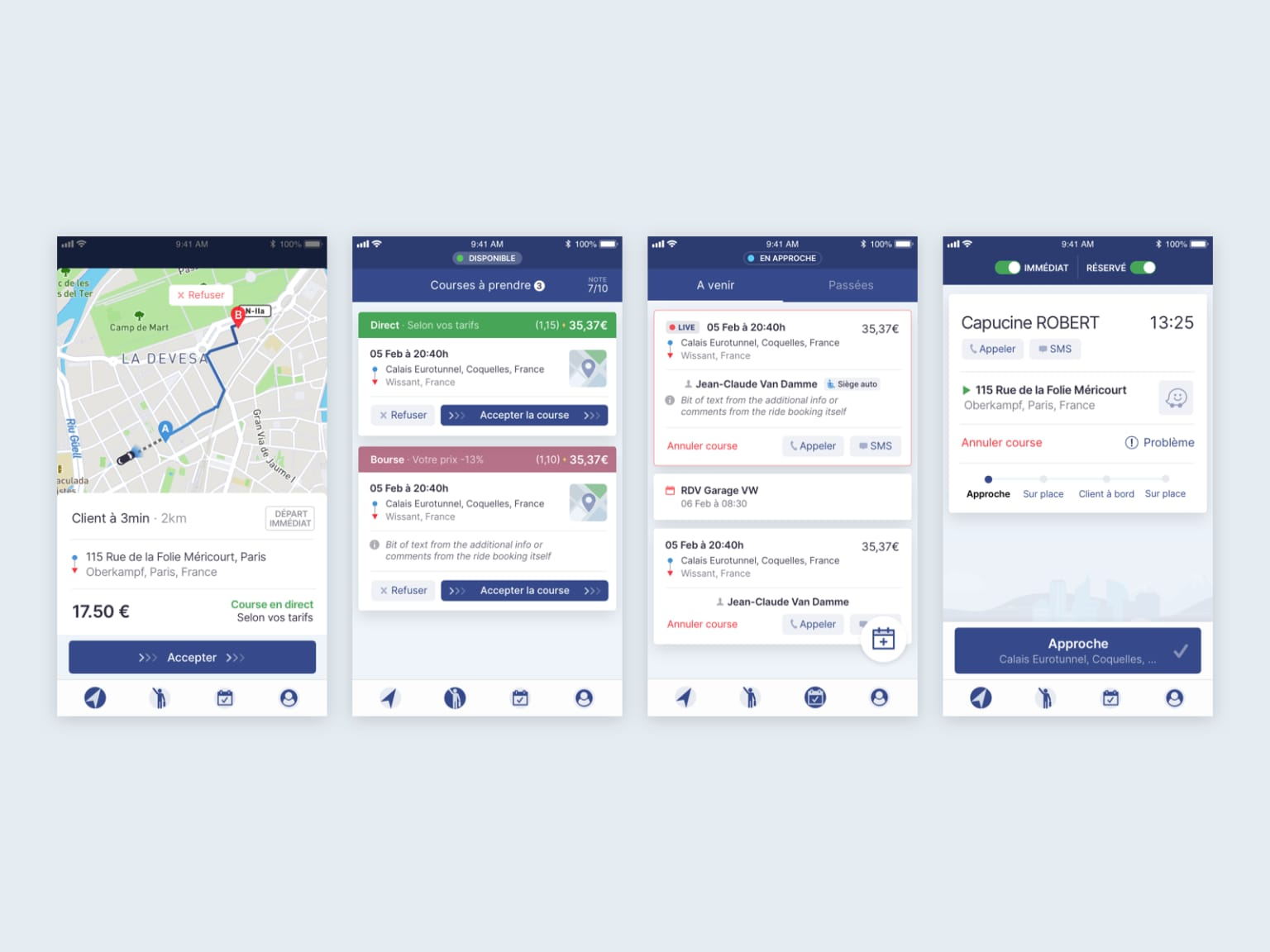 Mobile applications for Eurecab