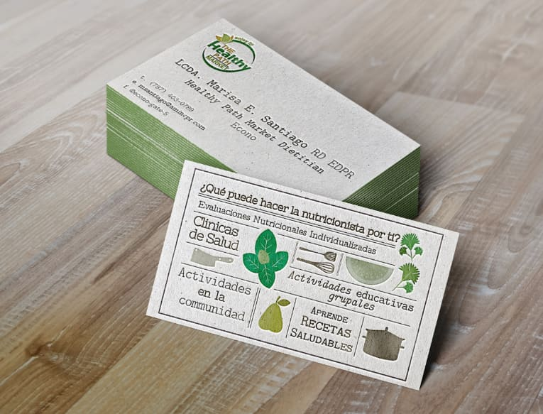 Dietitian Business Card Design Wnw