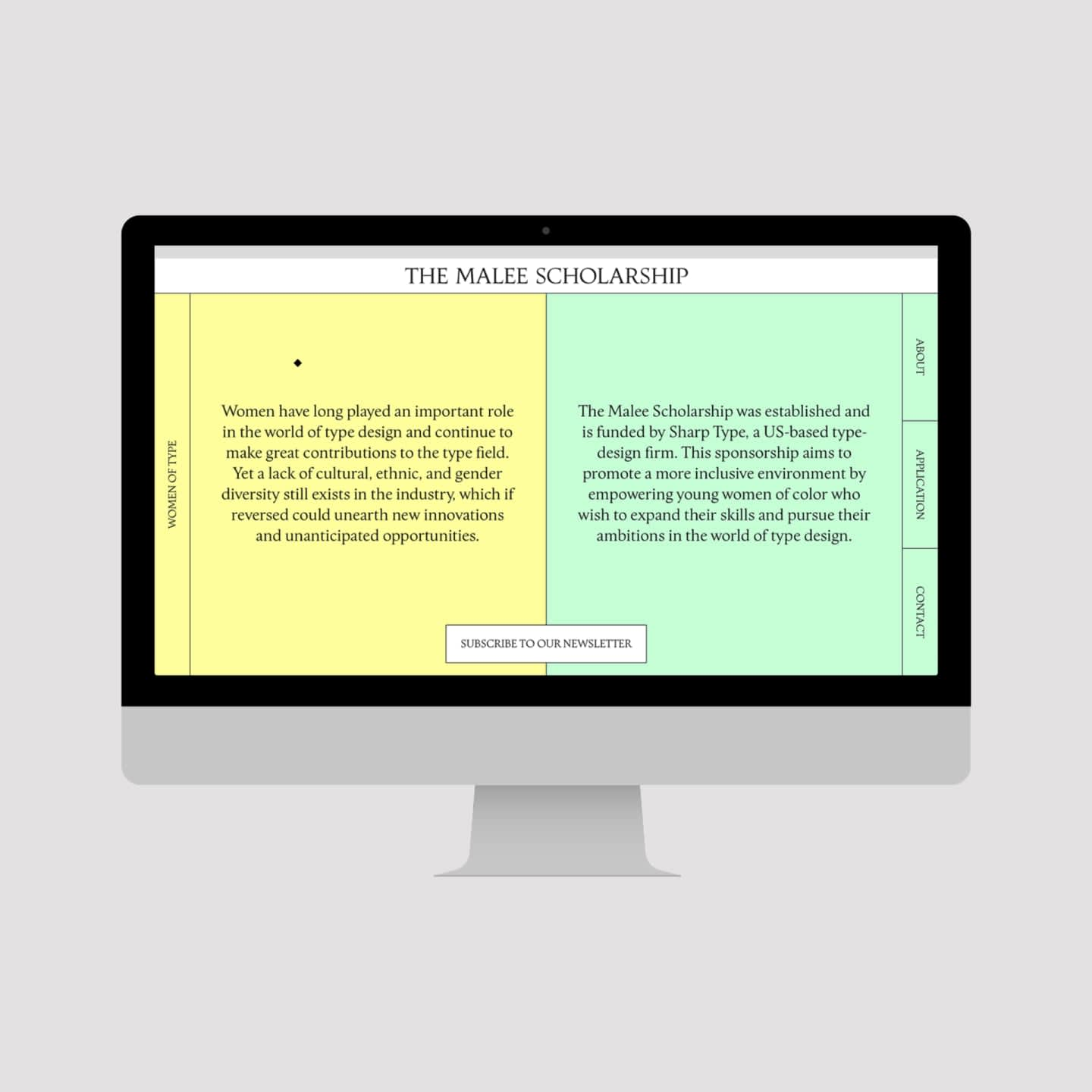 The Malee Scholarhip - website and corporate identity