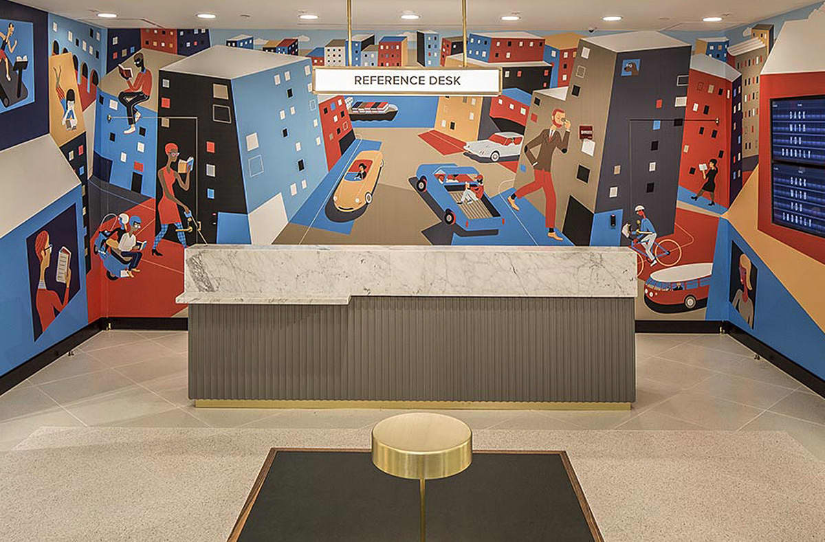 Warby Parker Baltimore Store Mural