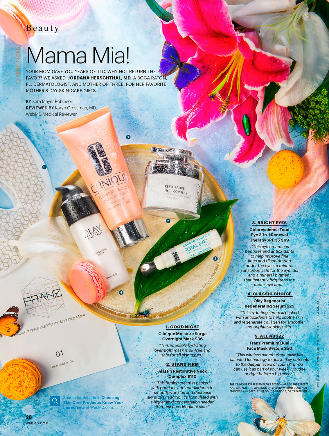 Beauty and Food Photography for WebMD Magazine