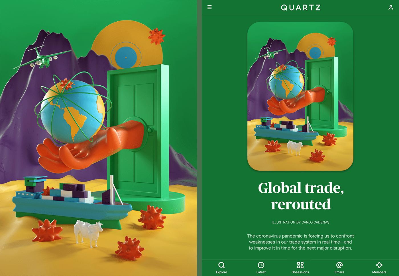 Quartz - Illustrations series