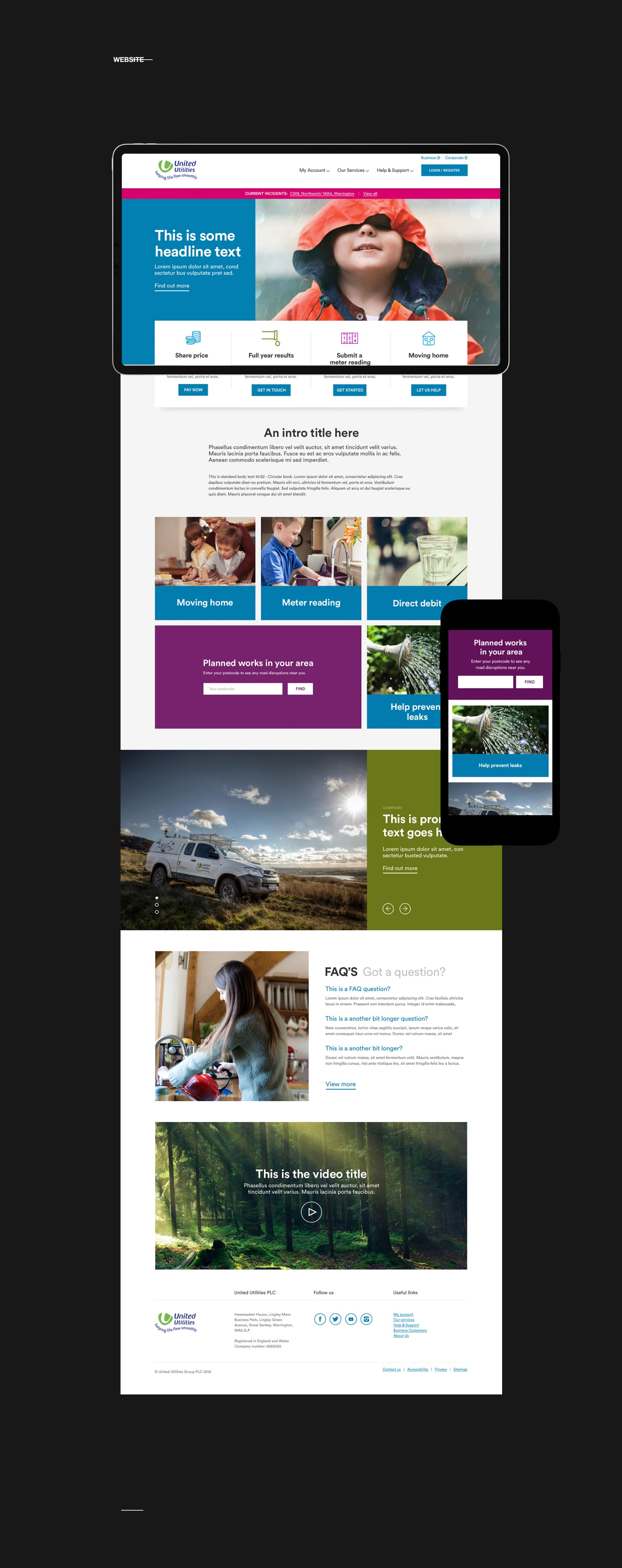United Utilities Website