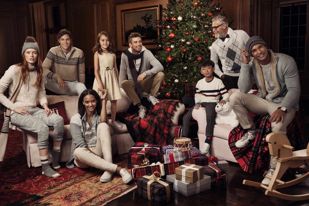 Tommy Hilfiger holiday editorial