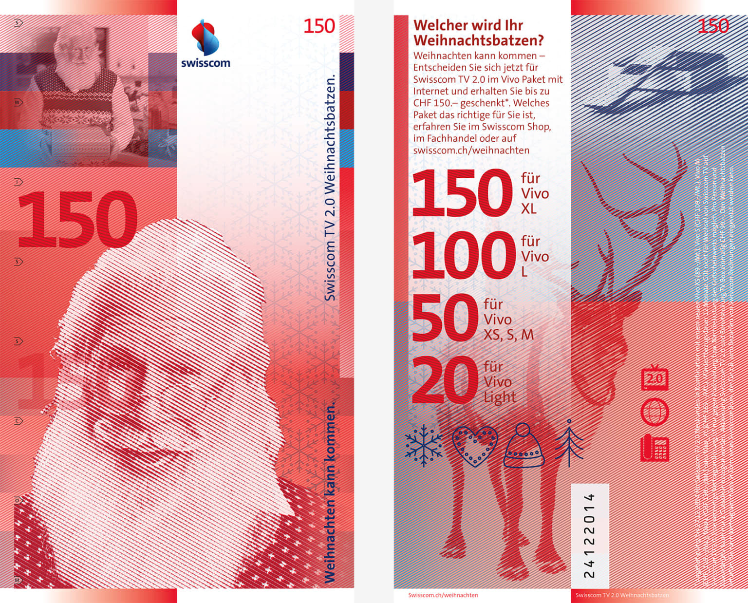 A new 150CHF note for Swisscom