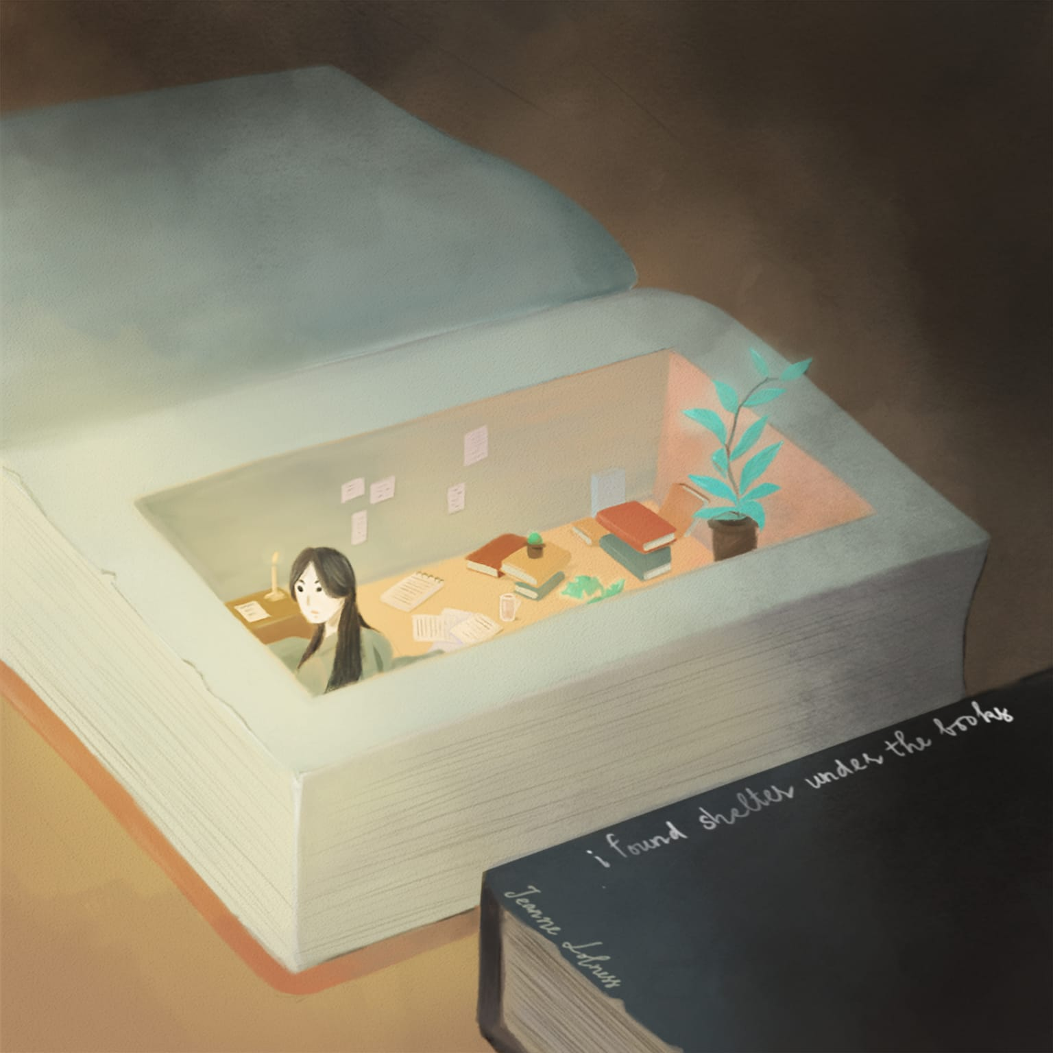 Books, Reading and Imagination Illustrations