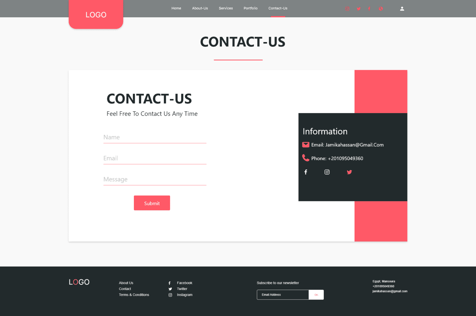 Contact-Us Page