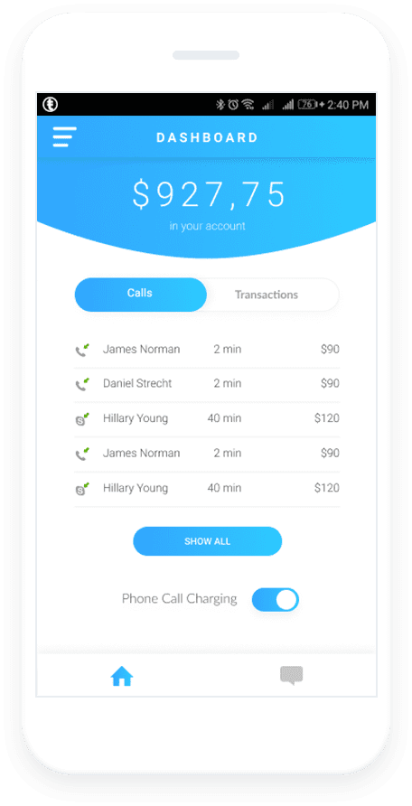 Pay Per Minute - Charge for professional phone calls