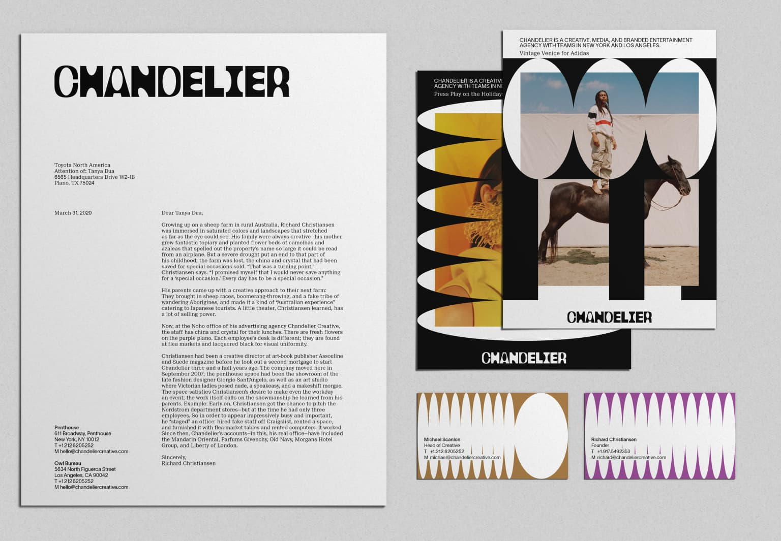 Identity for Chandelier Creative
