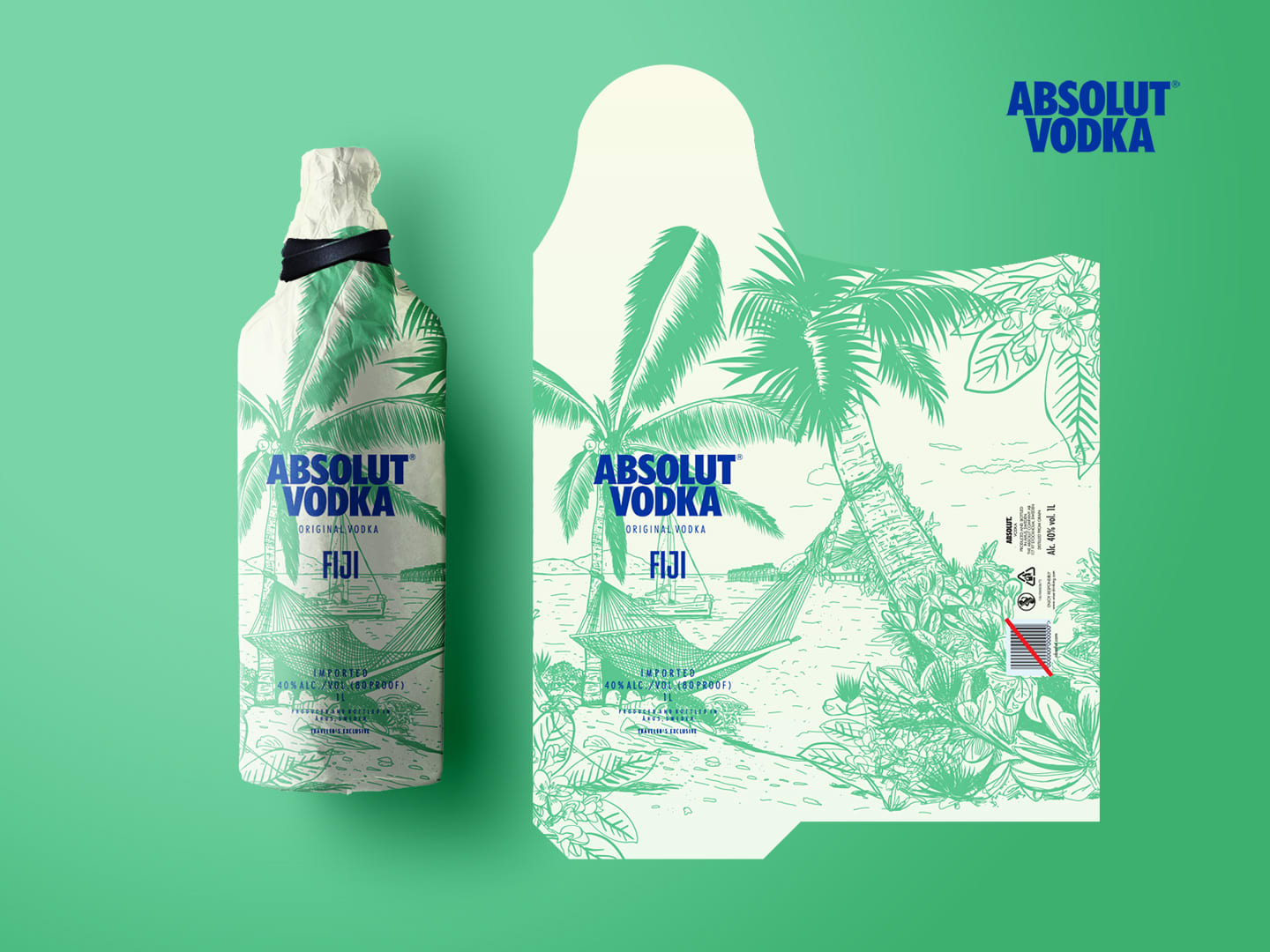 Limited Edition bottle bags for Absolut Vodka Fiji
