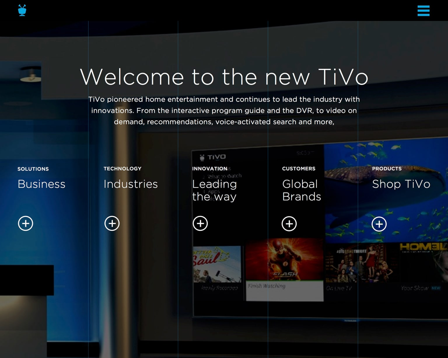 TiVo Home Page Concept