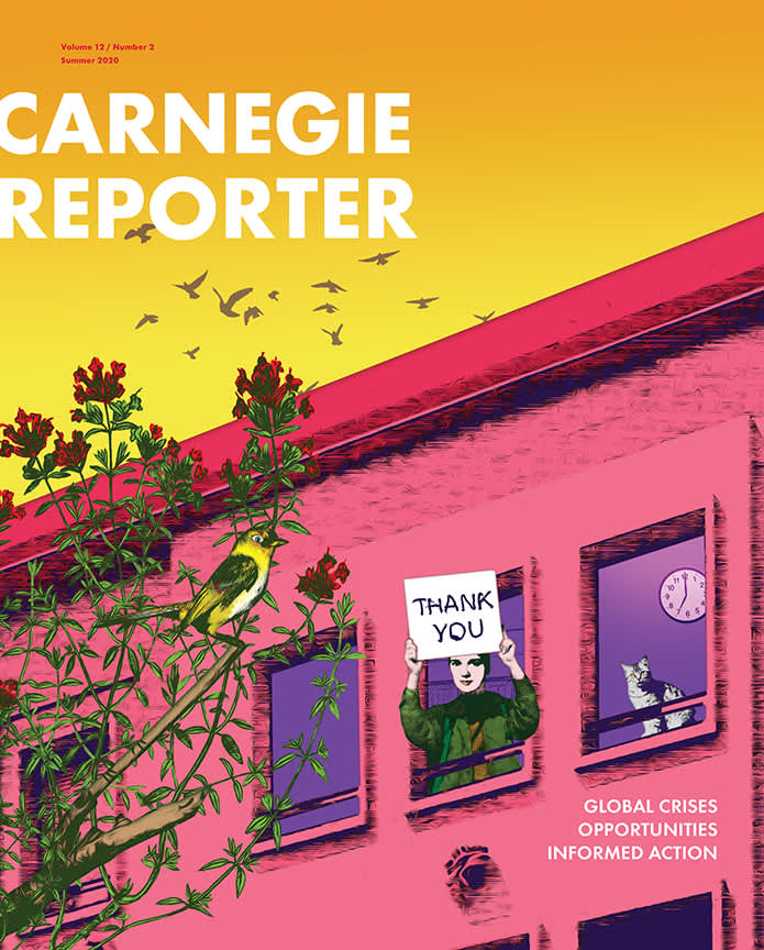 Cover image of Carnegie Reporter magazine (NYC)