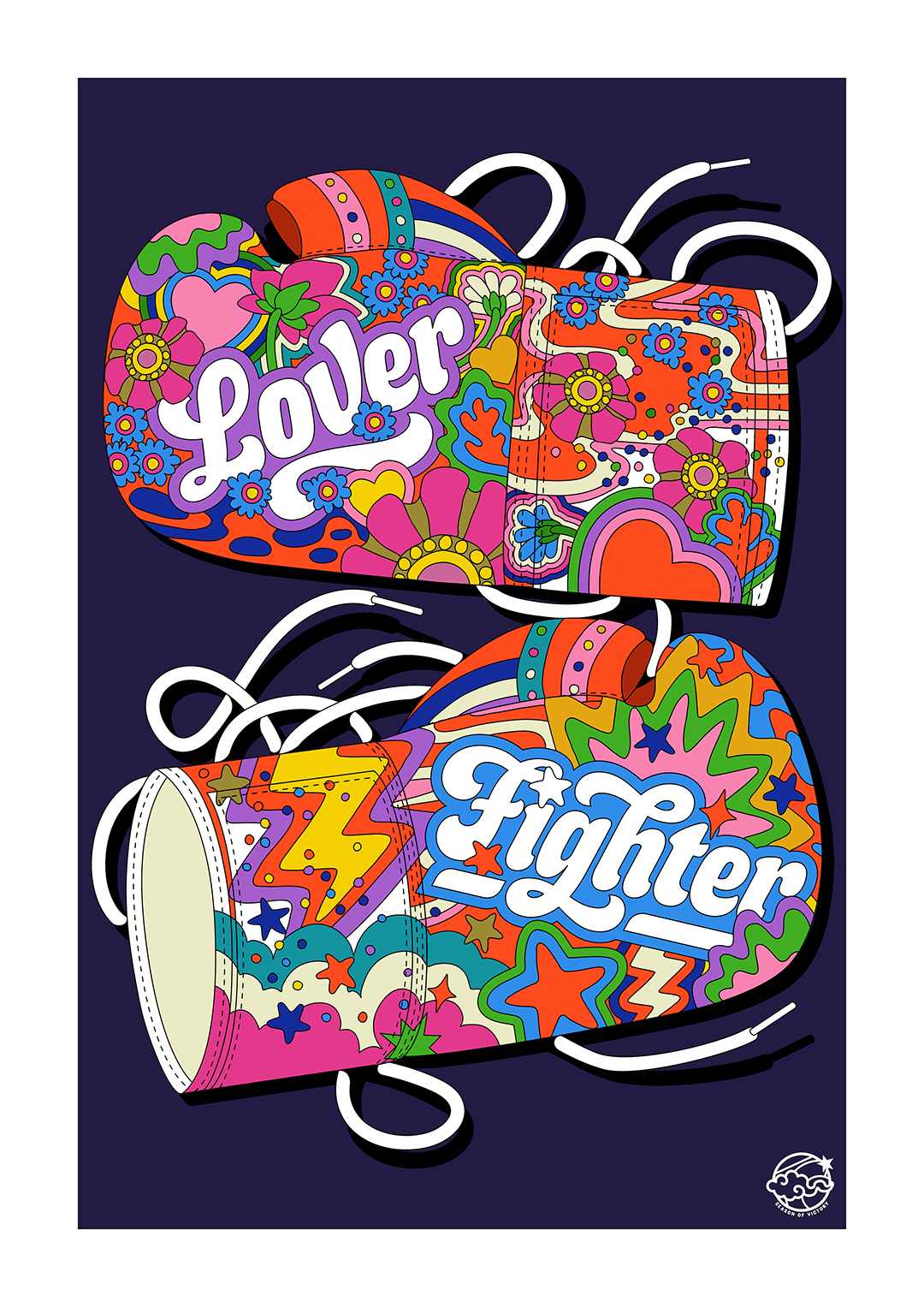Lover + Fighter and London Parakeet illustrations