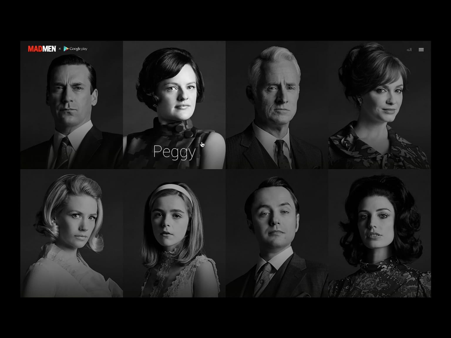 Mad Men x Google Play