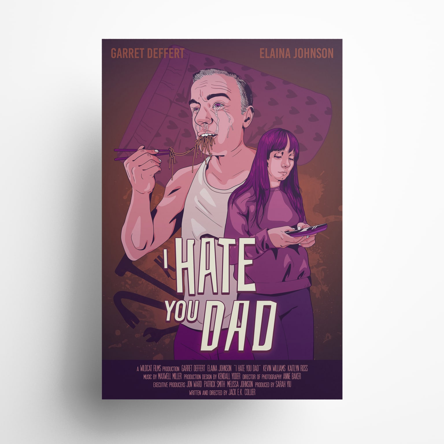 """""""I Hate You Dad"""" Film Poster"""