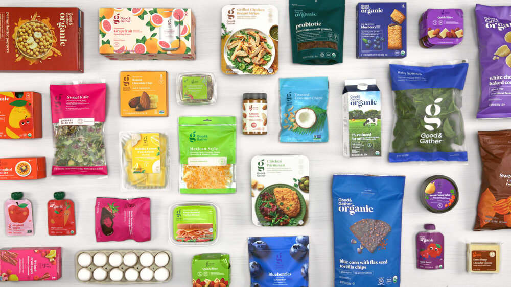 #target Good and Gather Brand identity system and packaging roll out