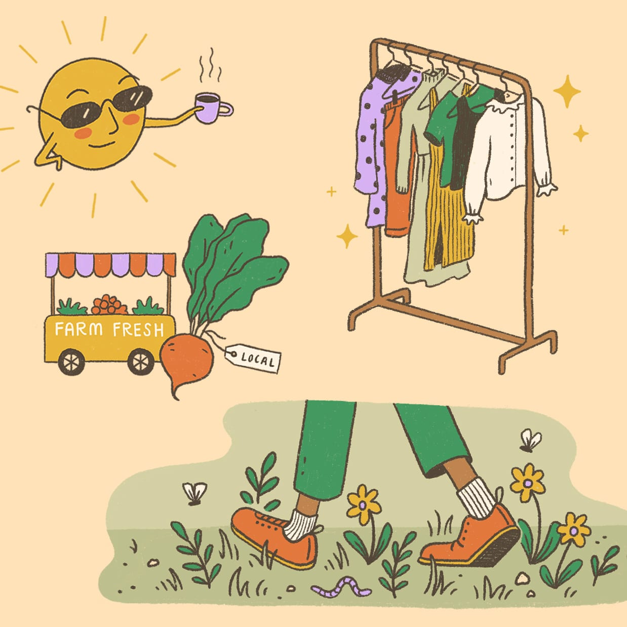 ELLE Illustrated Infographic on Sustainable Style