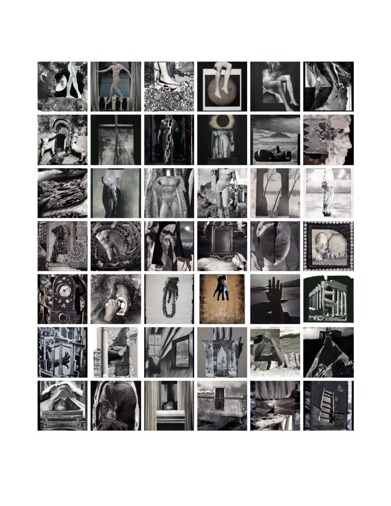 Examples of Black and White Collage Art