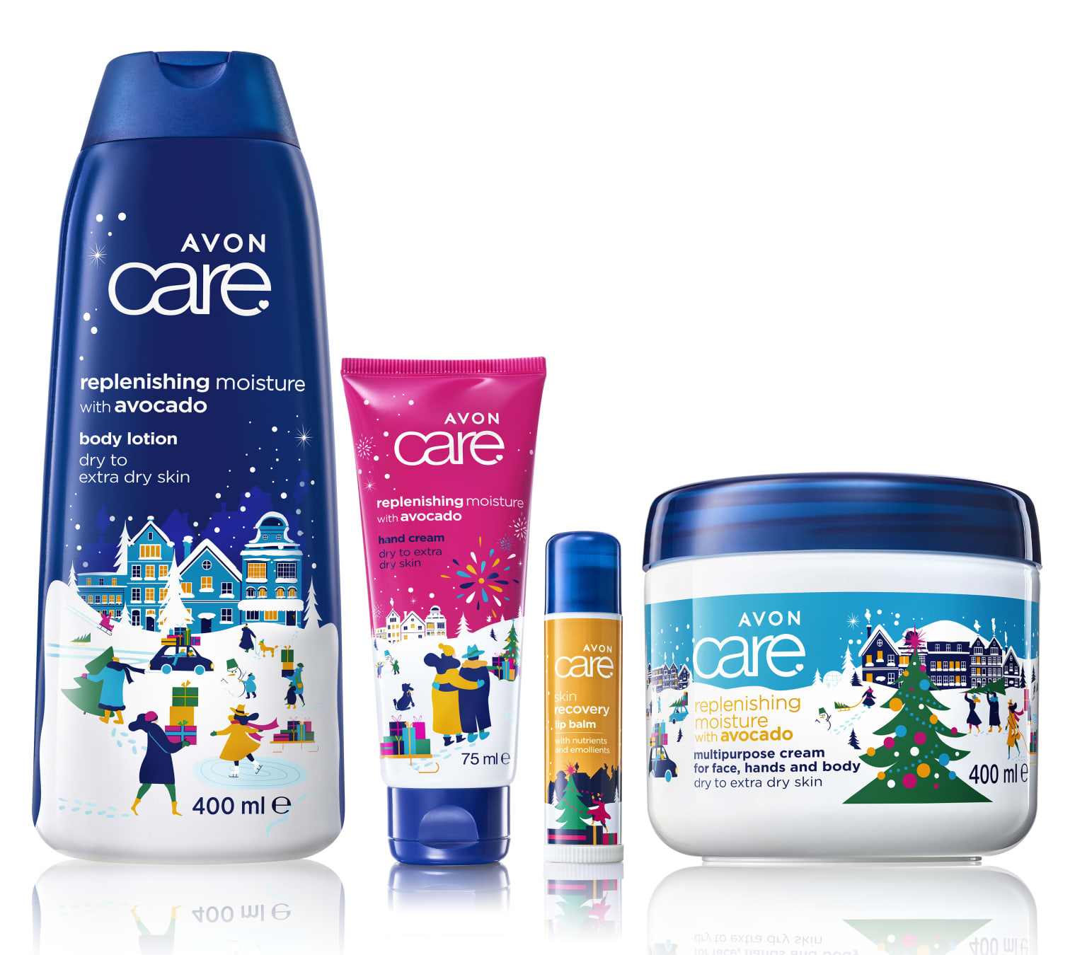 Christmas packaging for Family Care products / Avon Cosmetics Central & Eastern Europe