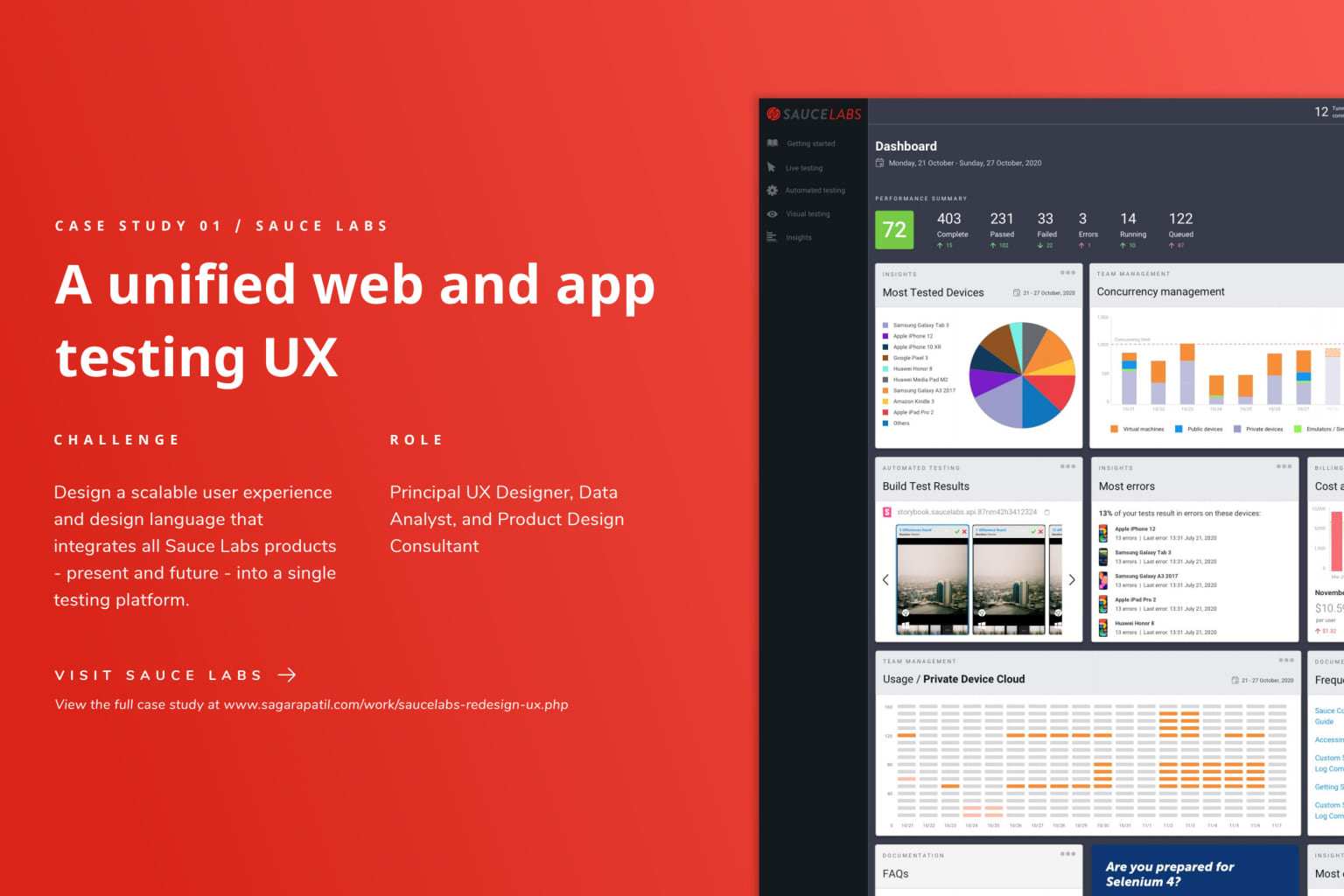 Designing a unified web and app testing user experience.