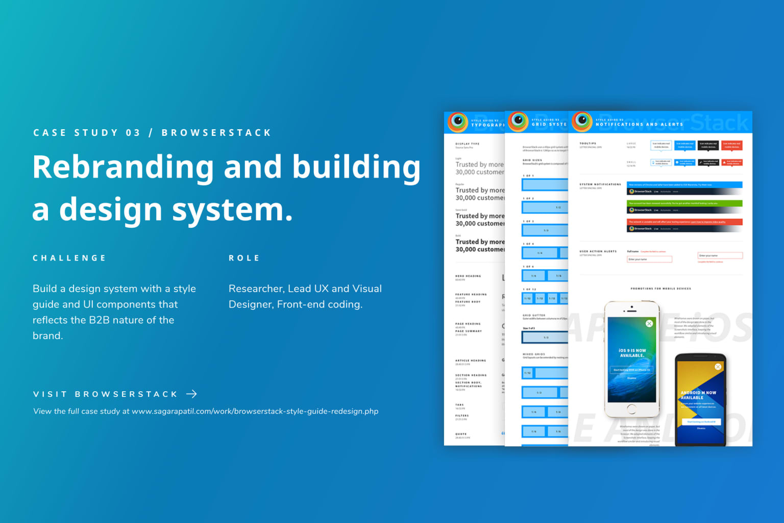 Rebranding and building a design system.