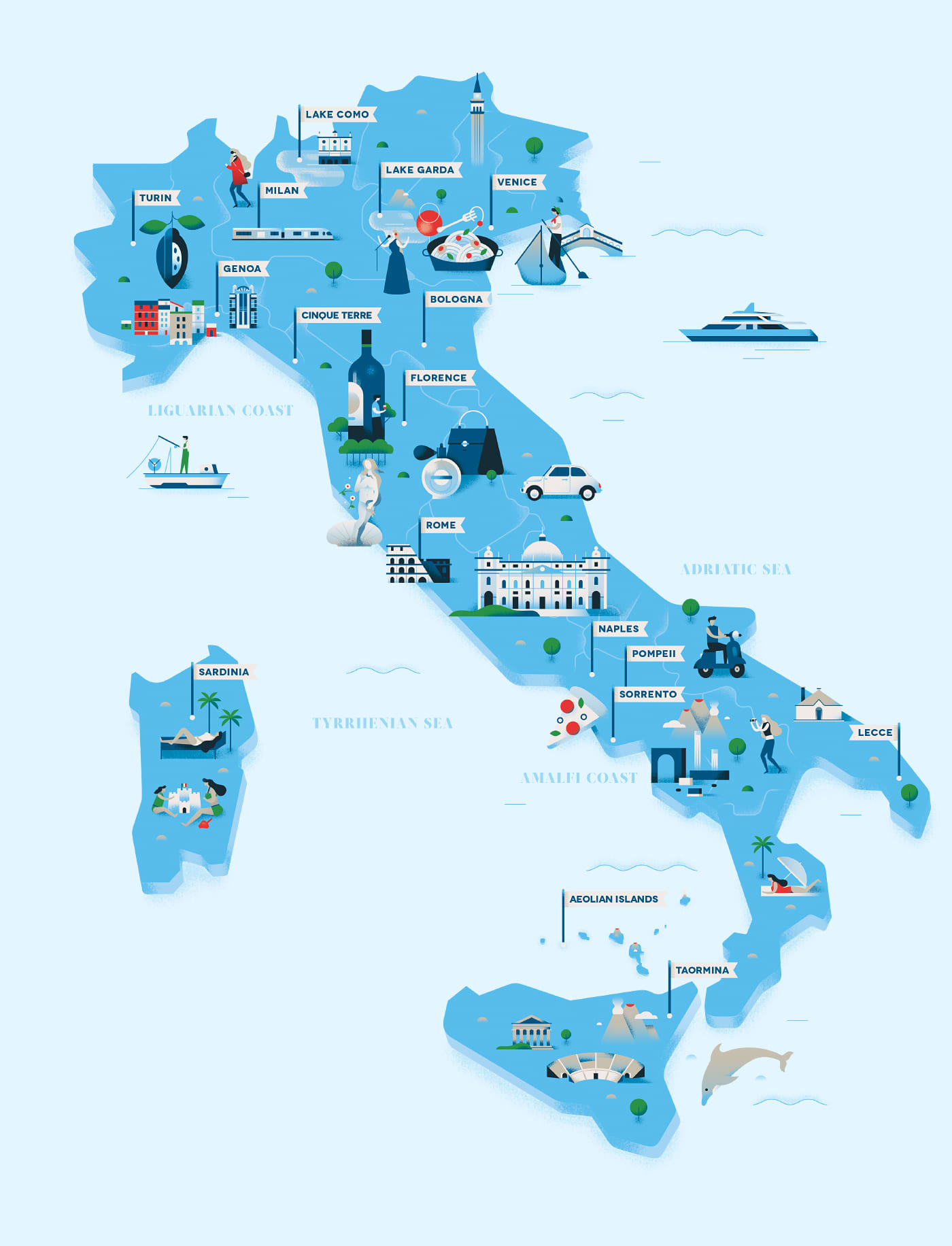 The Times : Italy Map