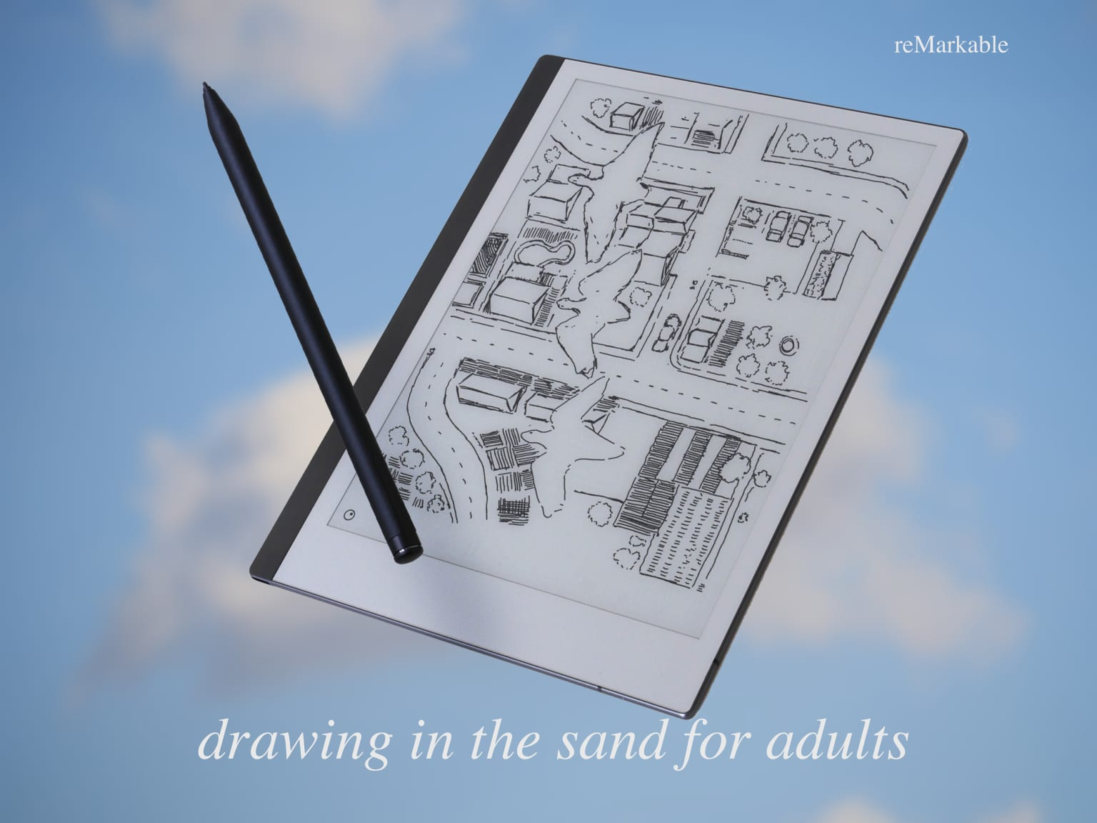 Drawing in the sand for adults