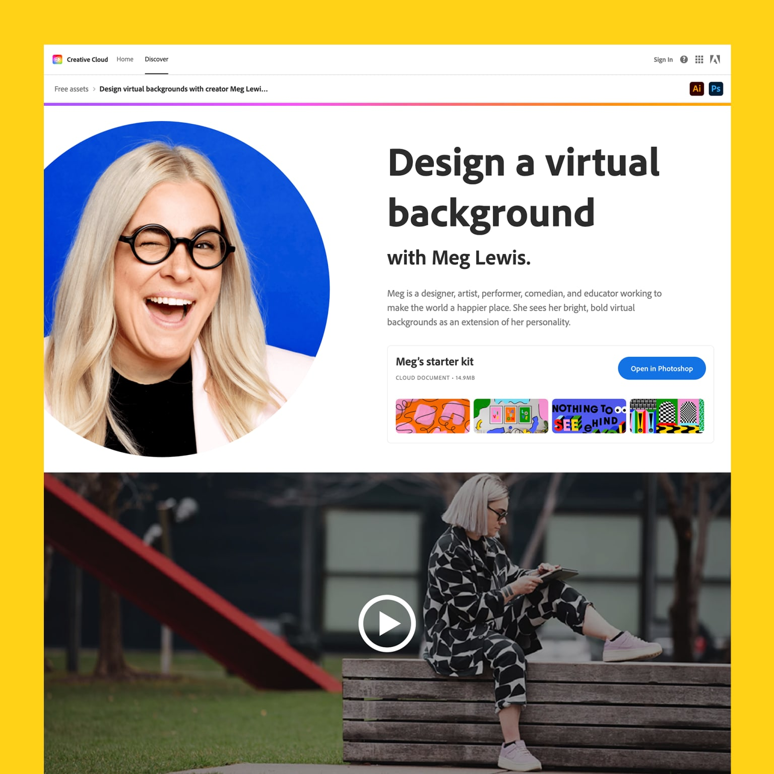 Design A Virtual Background With Meg Lewis