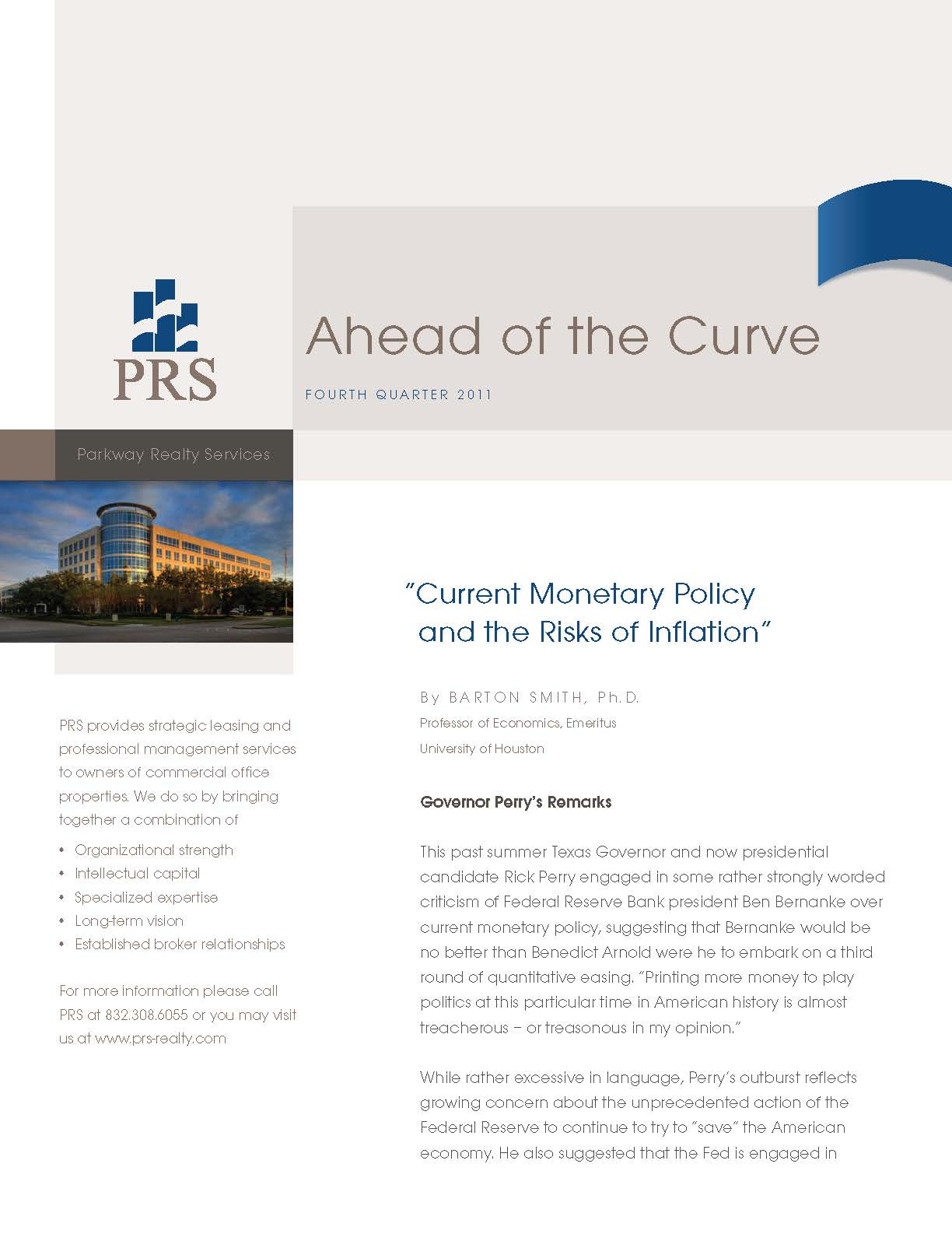 PRS Realty - Printed Newsletter