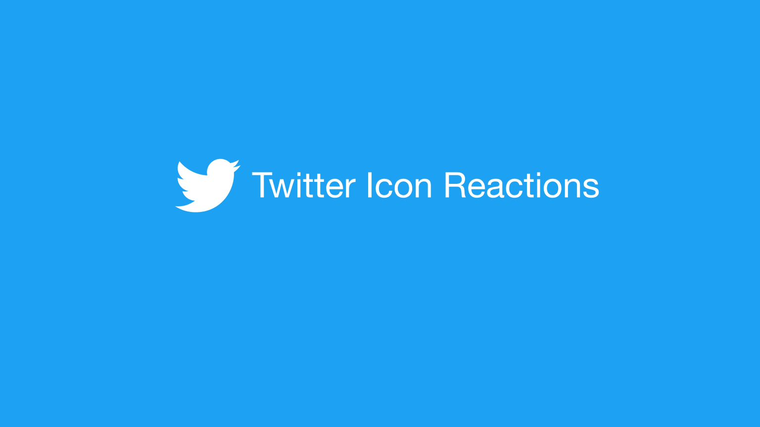 Twitter Icon Reactions