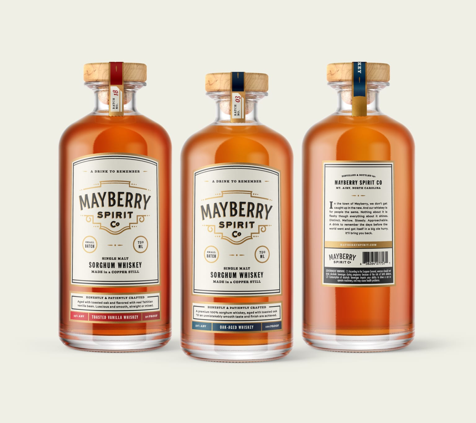 Mayberry Spirit Co. Brand Identity and Packaging