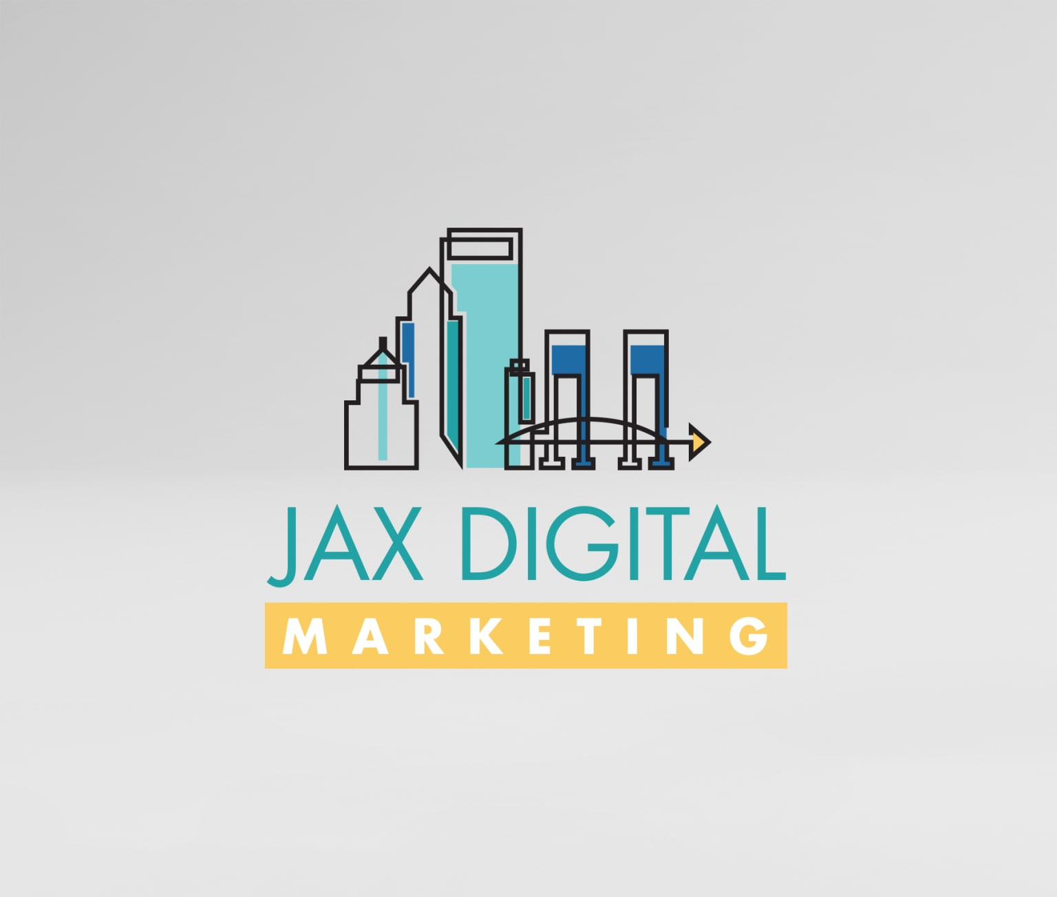 Logo created for a local marketing agency.
