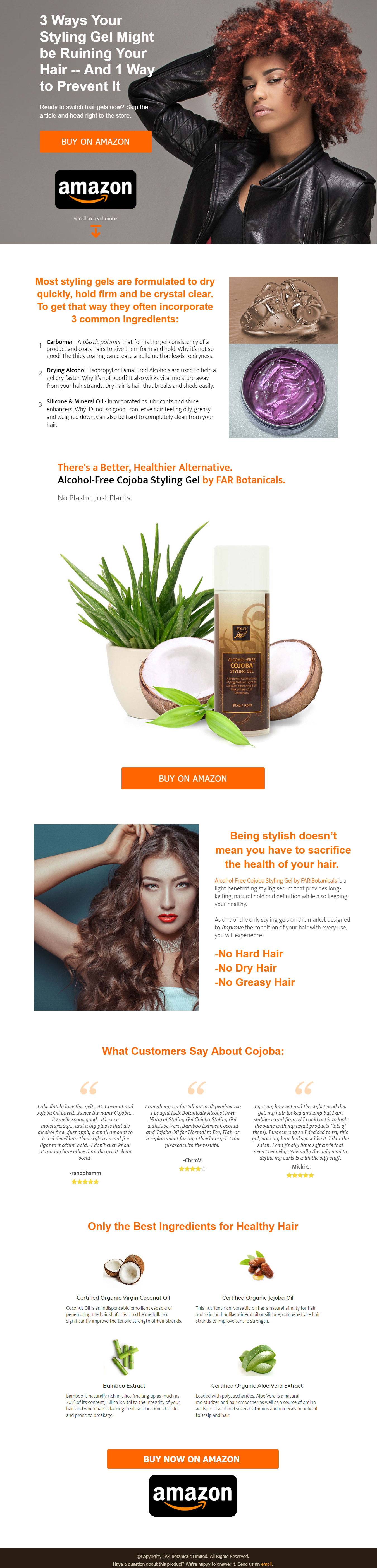Consumer Product Landing Page