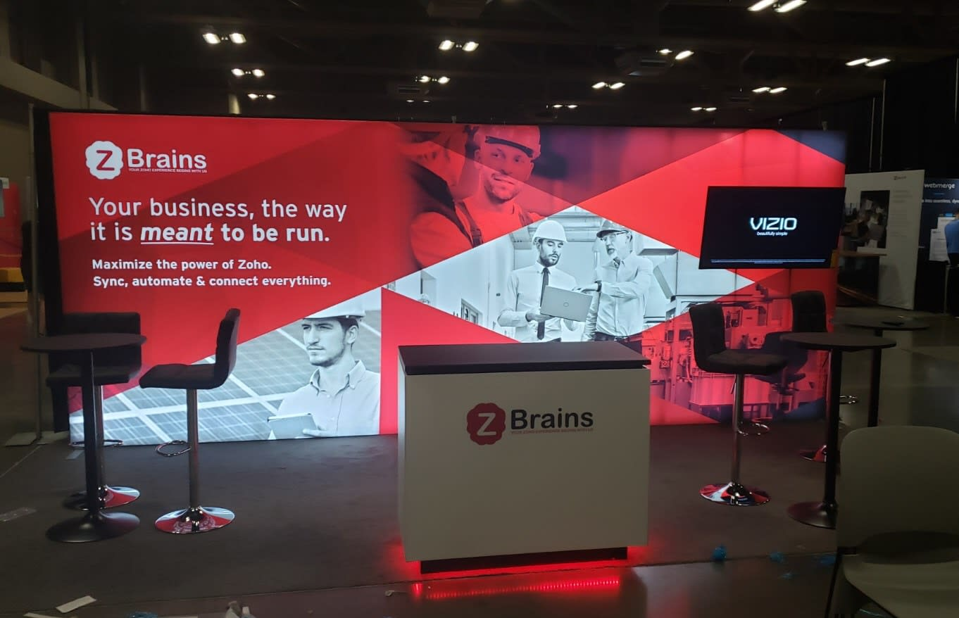 Zoholics 2019 Booth for ZBrains