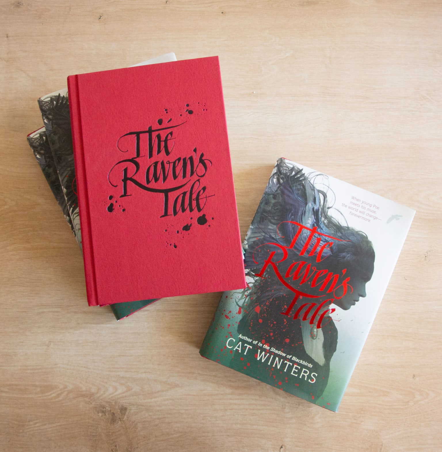 The Raven's Tale lettering