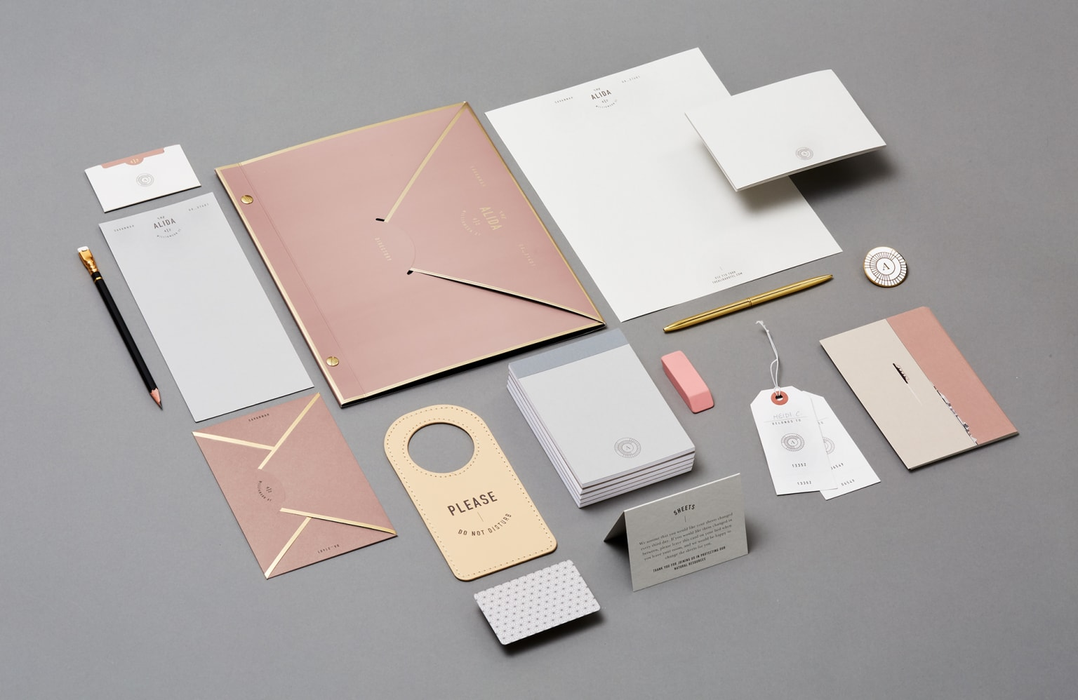 Visual Identity and collateral for the Alida Hotel in Savannah