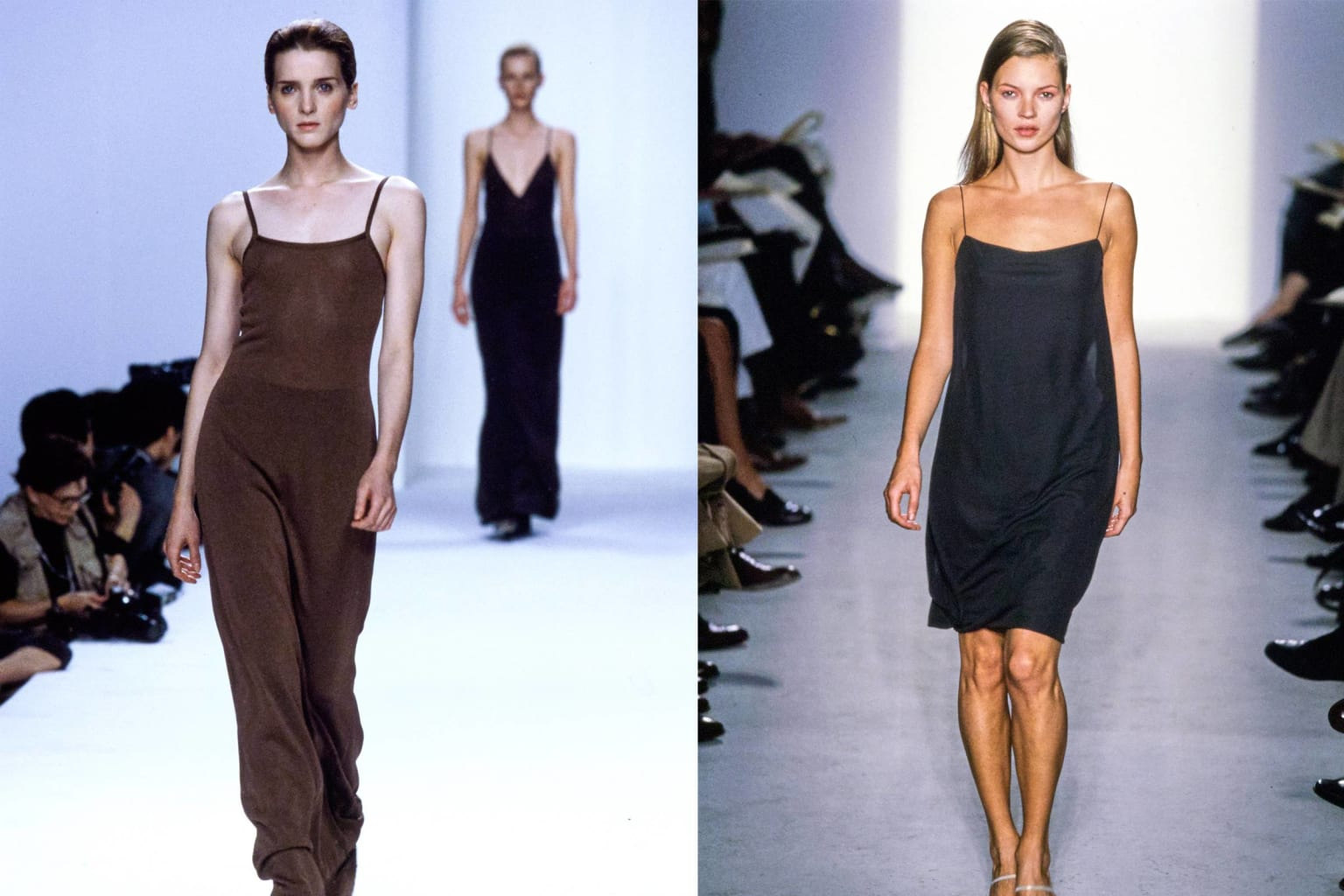 Editorial on Calvin Klein's pivotal place in 90s fashion history.