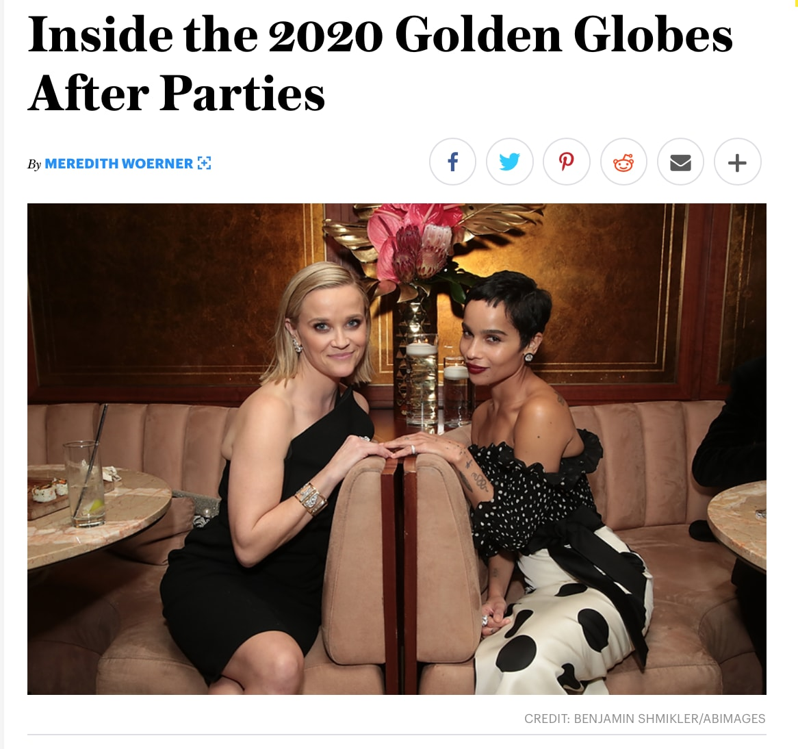 CAA Golden Globes After Party