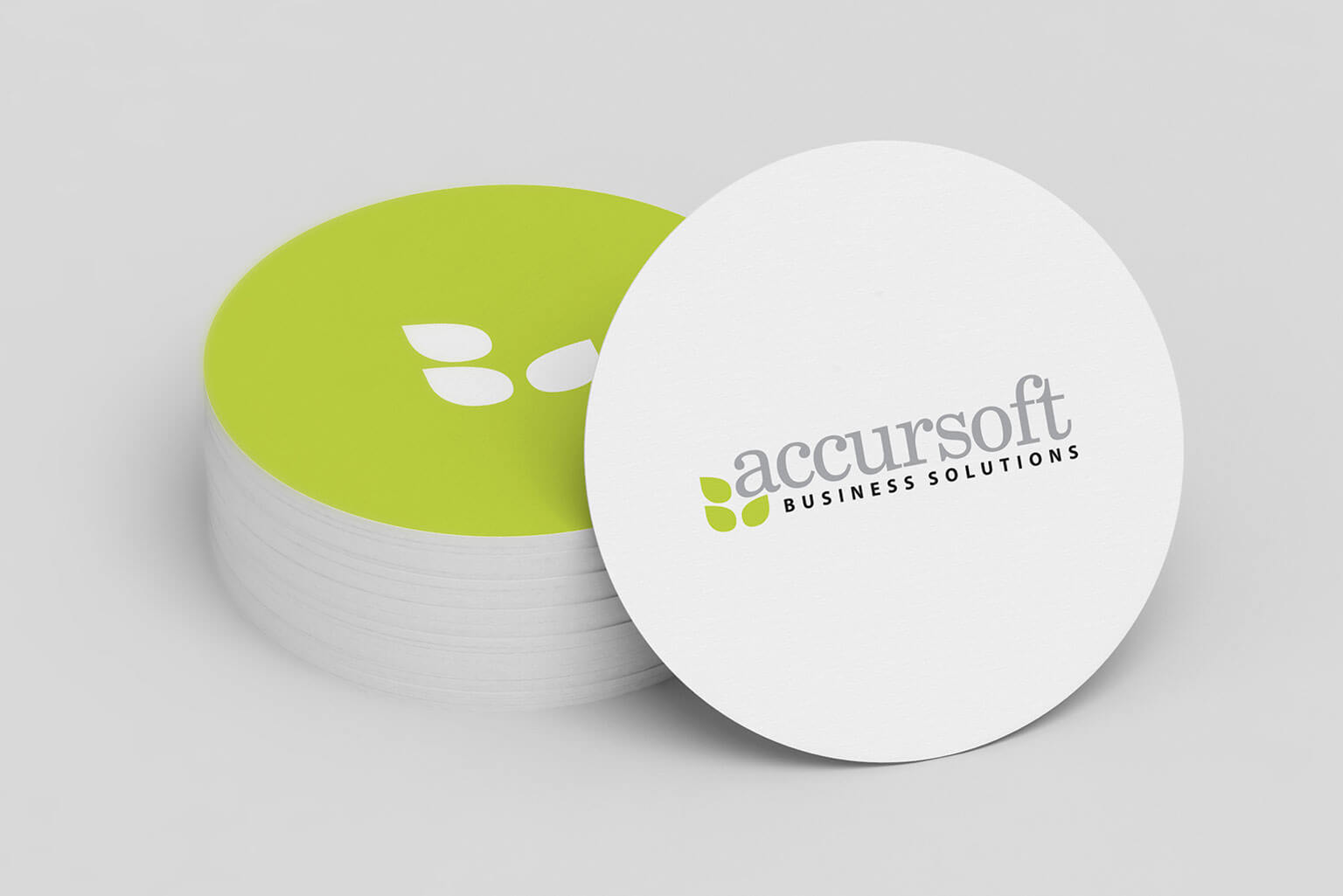 Accursoft, visual identity, logo and stationery items for a USA based software company