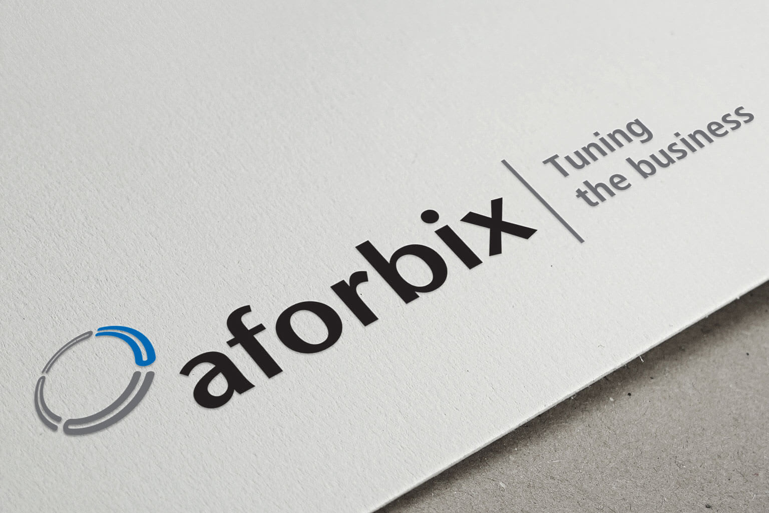 Aforbix, corporate identity, logo, business card, stationery for a corporate software company