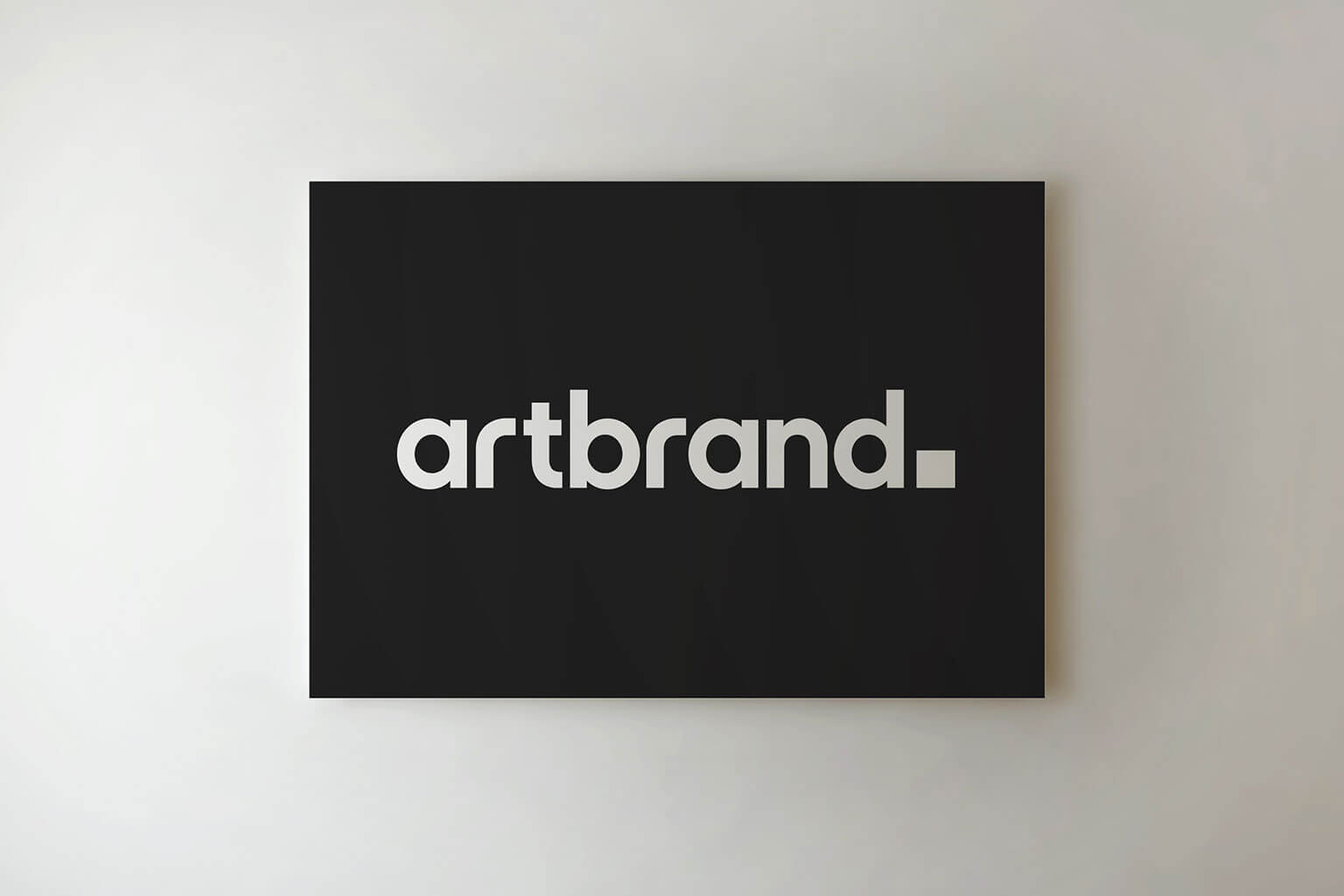 Artbrand, visual identity, logo, stationery, poster ad for a London based art gallery
