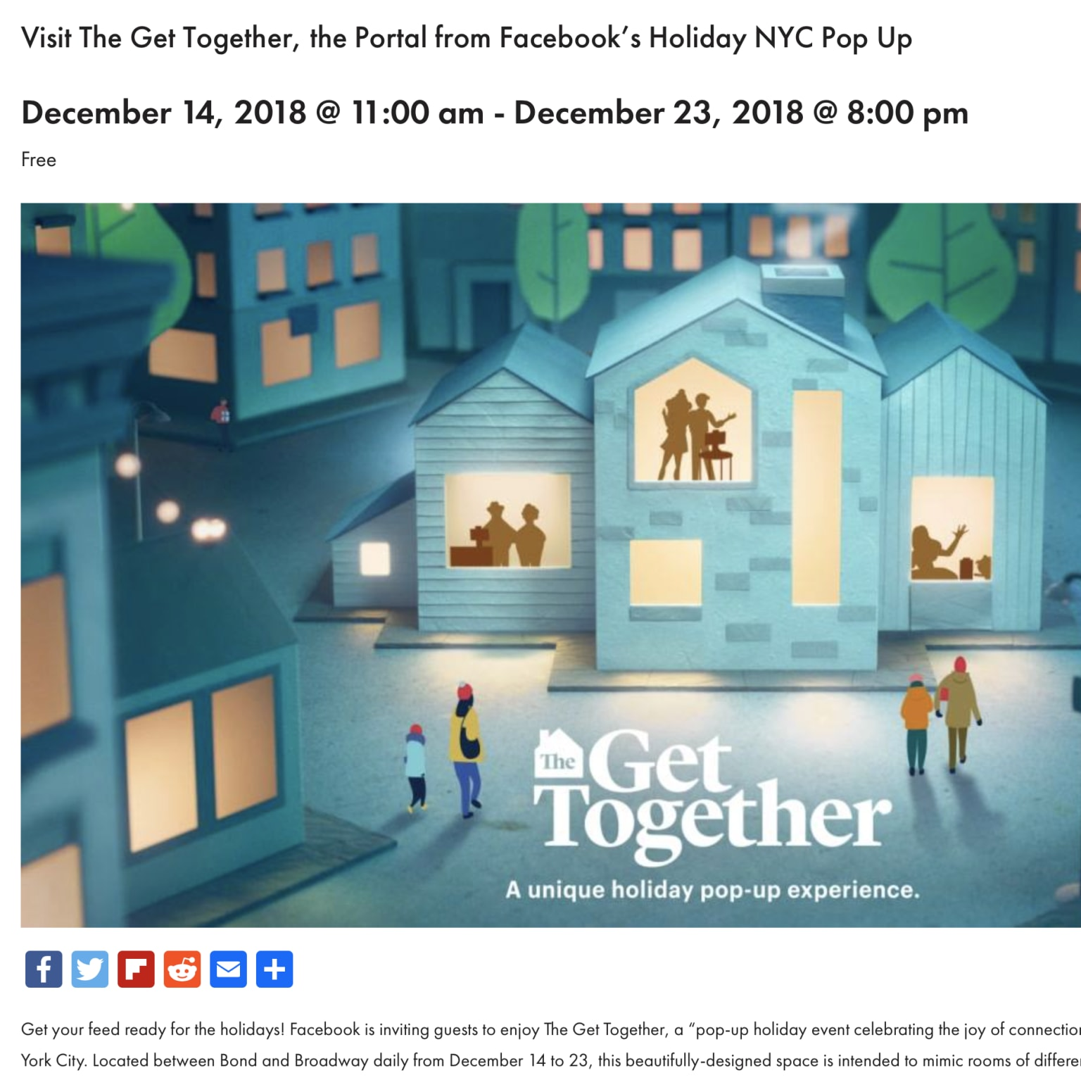"""Experiential: Facebook """"The Get Together"""""""