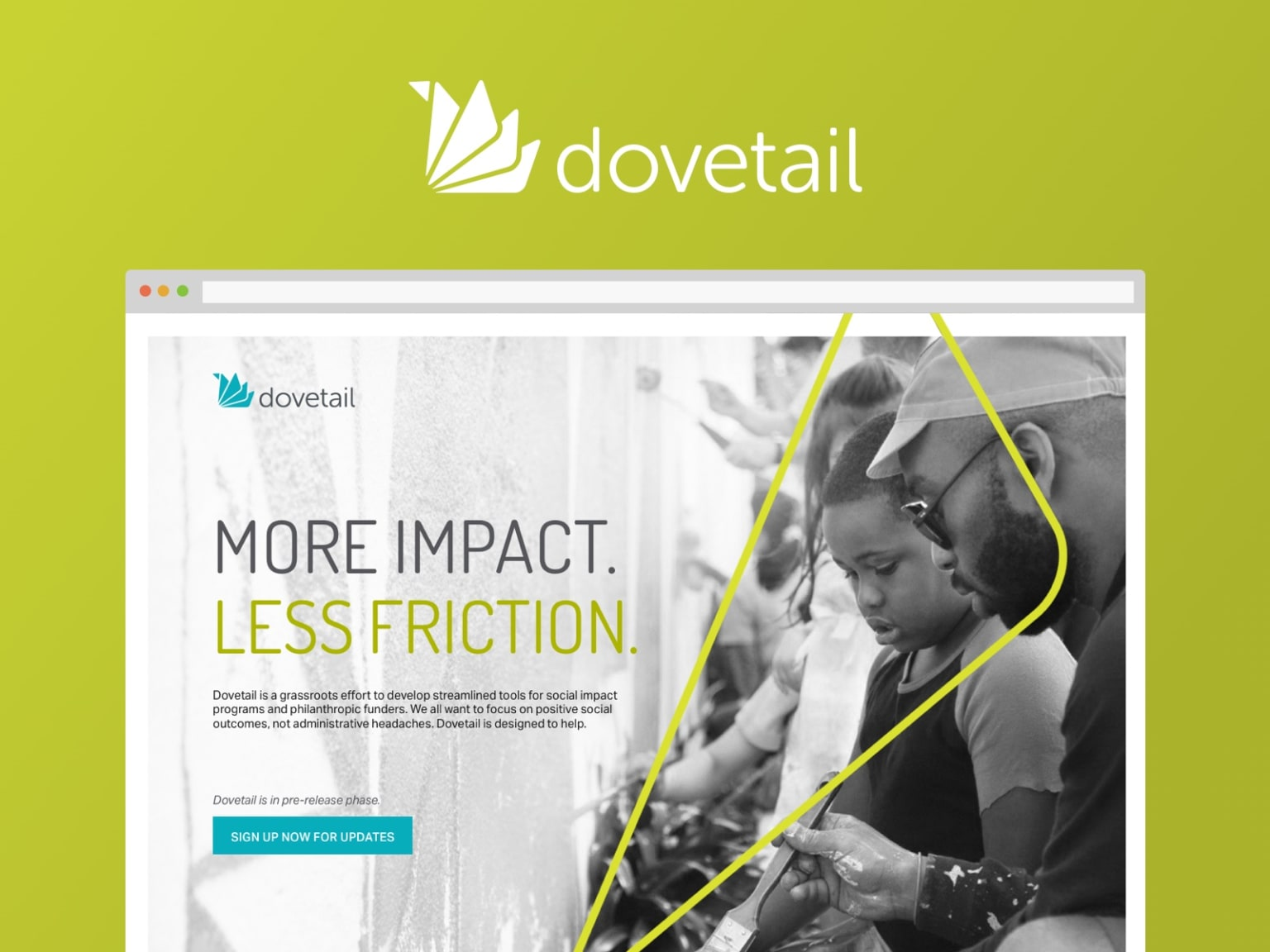 Dovetail Visual Identity and Landing Page