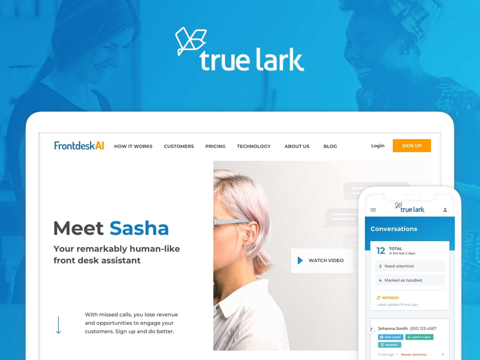True Lark, redesigned - Bringing the power of AI to small businesses