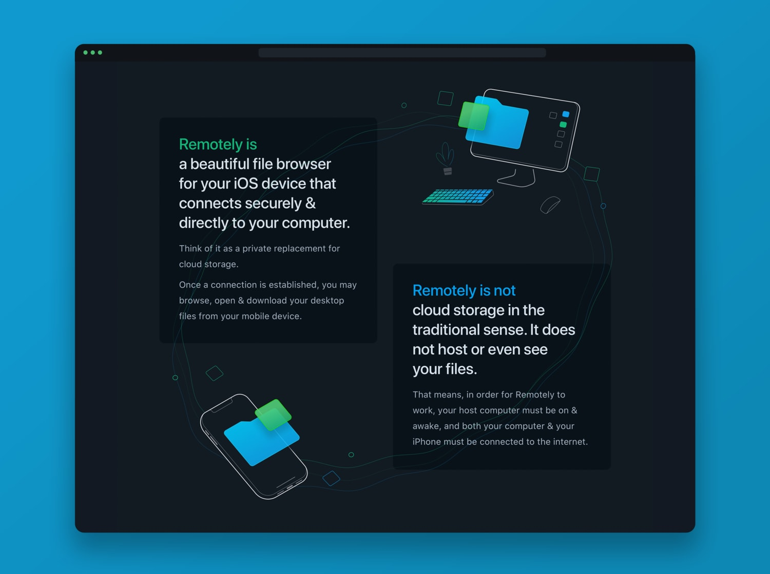 Remotely Website Design and Illustrations