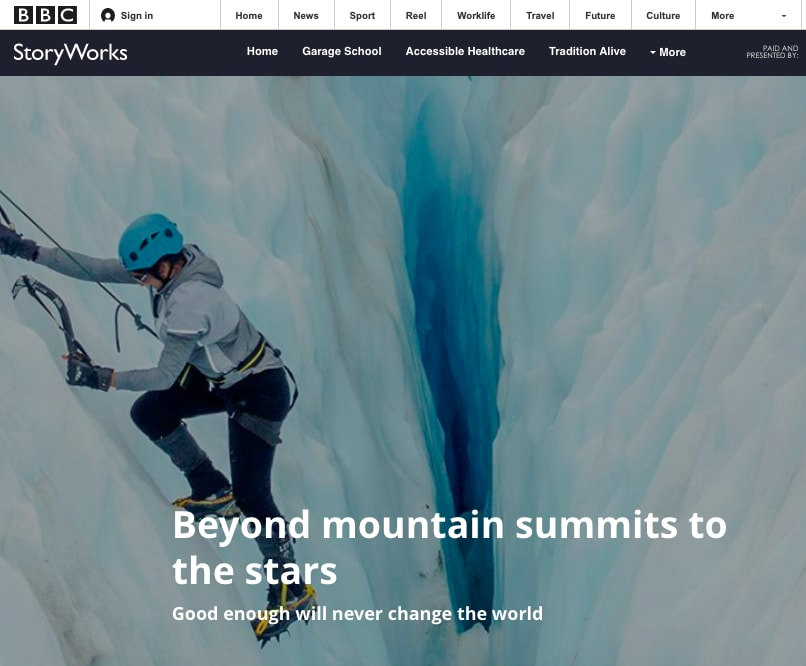 Beyond Mountain Summits to the Stars