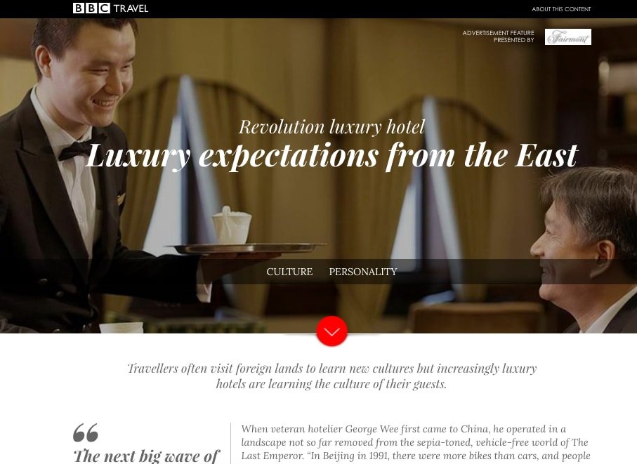 Luxury Expectations from the East